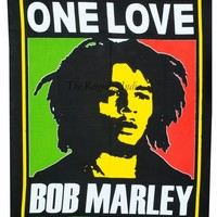 """40"""" Bob Marley Poster One Love Wall Tapestry Hanging Throw Cotton Wall Quote 96"""