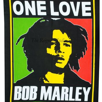 "40"" Bob Marley Poster One Love Wall Tapestry Hanging Throw Cotton Wall Quote 96"