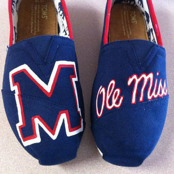 Ole Miss TOMS by DesignsByMicahInc on Etsy