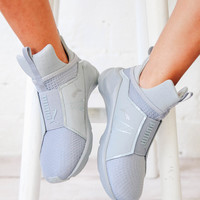 Fierce Quilted Sneaker - Silver