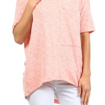 Peppered Piko Top - 3 Colors