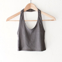 Halter Crop Top - Olive