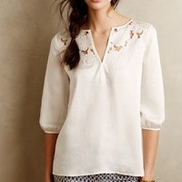 Cut Flower Peasant Blouse by Cooper & Ella White