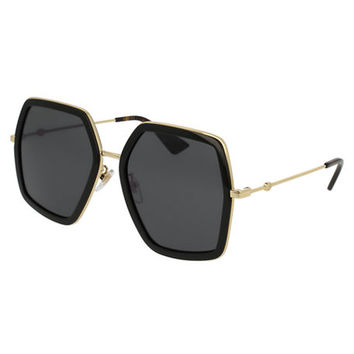 Gucci Oversized Square Web Sunglasses