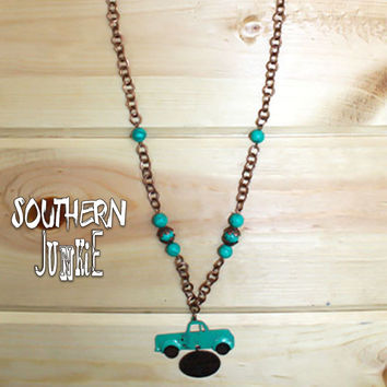 Life is an Adventure Truck Necklace