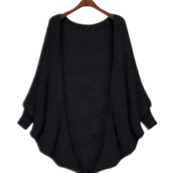 Women's Loose Batwing Baggy Knitted Sweater Cardigan Outwear