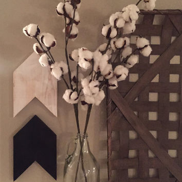 FREE SHIPPING- 30 inch Cotton Stem, Cotton Boll, Cotton Spray | Fixer Upper Decor
