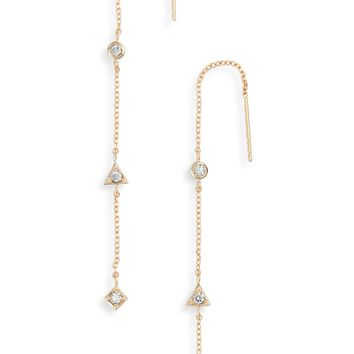 Anzie Cleo Diamond Linear Earrings | Nordstrom