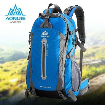 DCCKUH3 AONIJIE Camping Hiking Backpack Sports Bag Travel Trekk Rucksack Mountain Climb Equipment 40 50L for Men Women males Teengers