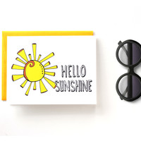 Hello Sunshine - Notecard