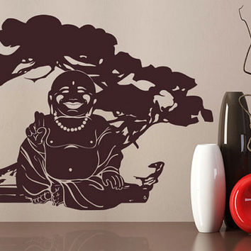 rvz1019 Wall Vinyl Sticker Bedroom Decal Words Sign Quote God India Buddha Tree (Z1019