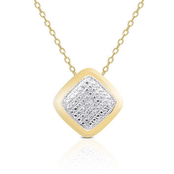 Finesque Yellow or Rose Gold Overlay Diamond Accent Necklace | Overstock.com Shopping - The Best Deals on Diamond Necklaces