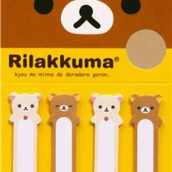 Rilakkuma & Korilakkuma bear Post-it bookmark sticker - Sticker Sheets - Sticker - Stationery