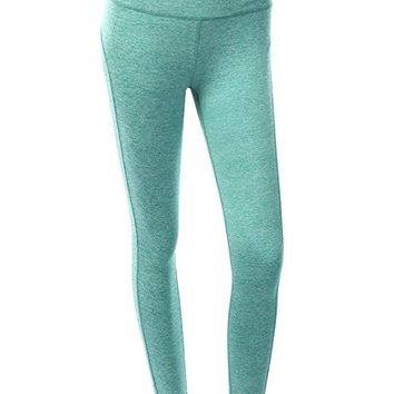 Womens Active Casual Cotton Spandex Shapewear Leggings Yoga Pants