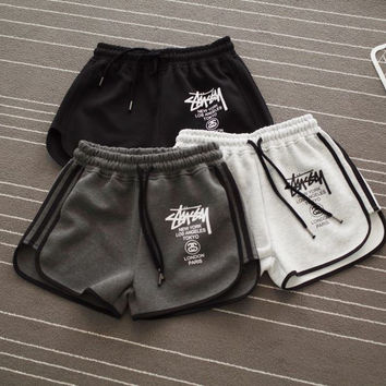 Stussy Letters Printed Sports Shorts Pants