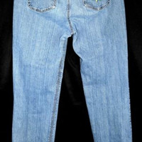 First Issue Liz Claiborne Sz 12 Jeans Flower Applique Stretch