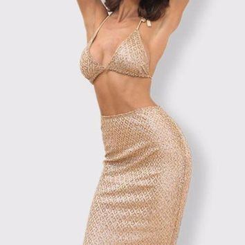 Seanna Two Piece Sequin Outfit