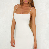 Lazy Sunday Dress White