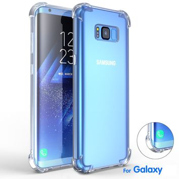 For SAMSUNG Galaxy S8 / S8 Plus Case Luxury Shockproof Armor Cases Gasbag Crystal Clear Phone Accessories Cover