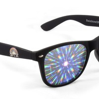 Rainbow OPTX Intense Prism Diffraction Glasses (Matte Black)