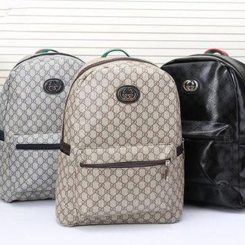 DCCK6HW Gucci' Men Casual Fashion Simple Classic Print Backpack Large Capacity Travel Double Shoulder Bag