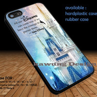 Disneyland Castle Walt Disney Quotes DOP1300 iPhone 6s 6 6s+ 5c 5s Cases Samsung Galaxy s5 s6 Edge+ NOTE 5 4 3 #quote
