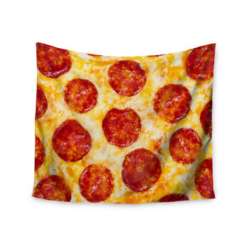 "KESS Original ""Pizza My Heart"" Pepperoni Cheese Wall Tapestry"