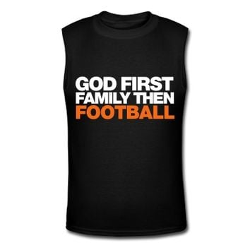God First FAMILY THEN FOOTBALL T-Shirt