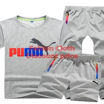 Puma Sport Three-Piece Suit 2018 Spring L-5x QA-308 Grey