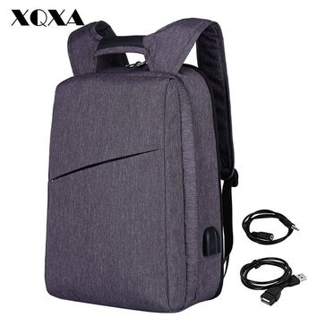Slim Laptop Backpack for Men Women with USB and Headphone Port Anti Theft Business Backpack Unsex Daily Bagpack