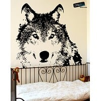 Vinyl Wall Decal Sticker Wolf Face #521