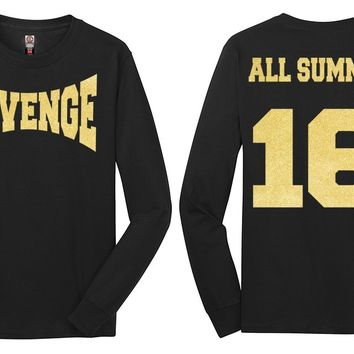 Revenge All Summer Sixteen Long Sleeve Drake Tour Summer 16 T shirt tee long sleeve