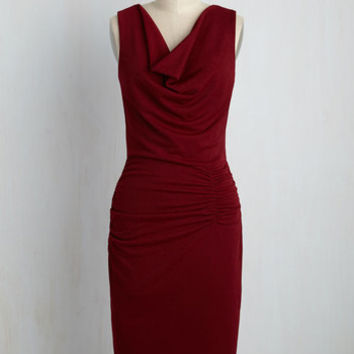 What've You Got to Ruche? Dress in Burgundy