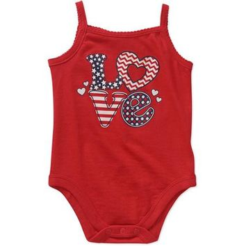 Garanimals Newborn Baby Girl Graphic Tank Bodysuit - Walmart.com