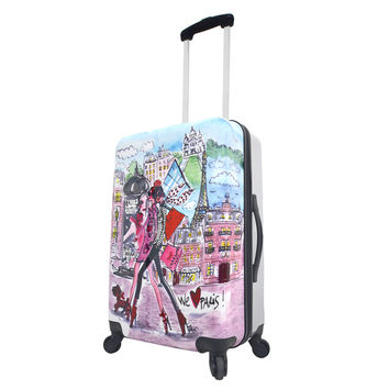 "Mia Toro Italy Izak-Paris 24-inch Expandable Hardside Spinner Upright Suitcase | Overstock.com Shopping - The Best Deals on 24""-25"" Uprights"