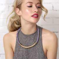 All Roped Up Necklace - Pink