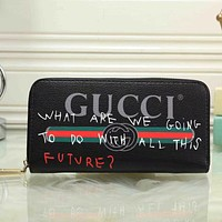 GUCCI Women Fashion Leather Clutch Bag Purse Wallet