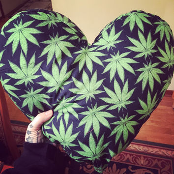 Herb Heart Shaped Pillow