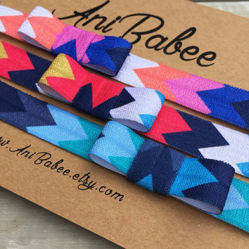 Tribal print baby headband, baby headband set, baby bow headband, infant headbands, girls, teen, toddler
