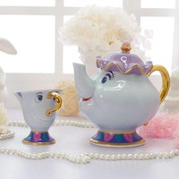 Beauty And The Beast Tea Set Teapot Cup