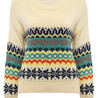 Multicolor Jumper with Rhombus Print