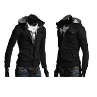 Partiss Mens Casual Buckle Top Designed Jacket