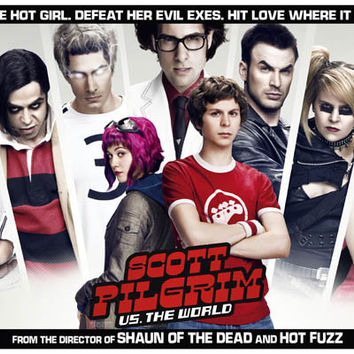 Scott Pilgrim Vs the World Movie Cast Poster 11x17