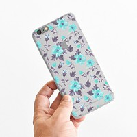 for iPhone 6 Plus - Super Slim Case - Watercolor Floral Pattern