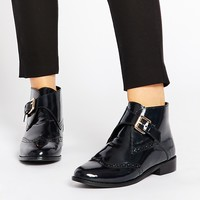 ASOS AFTER ALL Leather Brogue Ankle Boots