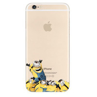 Minions Cheer Welcome iPhone 6s 6 Transparent Clear Soft Case