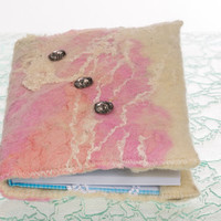 """Felted Mini A6 notebook covers """"3 to Shine!"""" refillable, notebook inside, handmade"""