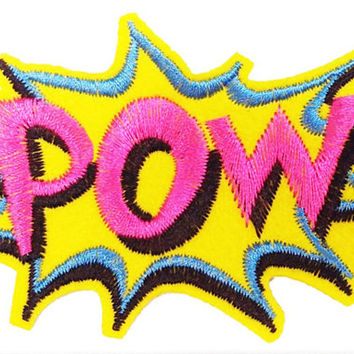 Large & Cool POW Vintage Comic Patch 8.5cm Applique