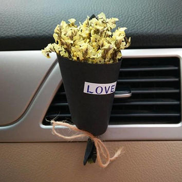 Real Dried Flower Car Air Freshener, Real Flora Car Vent Clip, Birthday Car Accessory Handmade Gifts