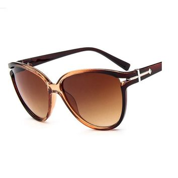 Gradient Points Oversized Frame Sun Glasses